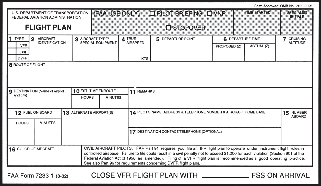 VFR Flight Plans in the Modern Age -